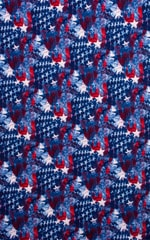 Low T Back Thong Bottom in American Flag Collage Fabric