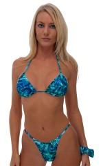 Skinny Side Rio Bikini Bottom in Liquid Bahamas 1