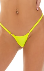 Mini Micro G String Bikini in Chartreuse 6