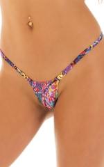 Mini Micro G String Bikini in Super ThinSKINZ Neon Riot 5