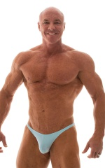Posing Suit - Competition Bikini Cut in Baby Blue 1