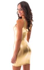 Sexy Mini Dress in Liquid Gold 3