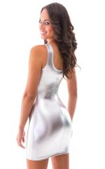 Sexy Mini Dress in Liquid Silver 3