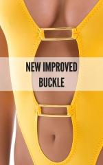 One Piece Keyhole Rio Bikini in ThinSKINZ Sunset Yellow 4