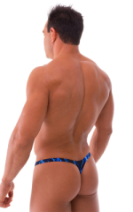 Stuffit Pouch Thong Back Swimsuit in Blue Lightning 3