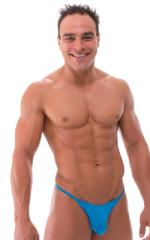 Sunseeker2 Tanning Swimsuit in Semi Sheer ThinSKINZ Sapphire 1