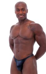 Bodybuilder Posing Suit - Narrow Back in Wet Look Black 3
