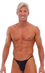 Fitted Pouch - Puckered Half Back - Swimsuit in Black 1