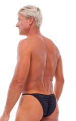 Fitted Pouch - Puckered Half Back - Swimsuit in Black 3