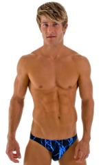 Bikini-Brief Swimsuit in Lazer Blue Lightning 1