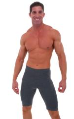 Lycra Sport Compression Gym Shorts in Dark Heather cotton-lycra. 1