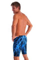 Lycra Bike Length Shorts in Blue Lightning 3