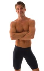 Lycra Bike Length Shorts in Black cotton/lycra 1