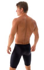 Lycra Bike Length Shorts in Black cotton/lycra 3