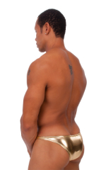 Exotic Dancer - Pouch Enhanced - Pistol Bikini in Metallic Liquid Gold 3