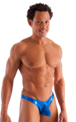 Exotic Dancer - Pouch Enhanced - Pistol Bikini in Metallic Mystique Pacific Blue 1
