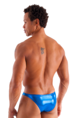Exotic Dancer - Pouch Enhanced - Pistol Bikini in Metallic Mystique Pacific Blue 3