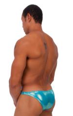 Exotic Dancer - Pouch Enhanced - Pistol Bikini in Metallic Mystique Hawaiian Mint 3