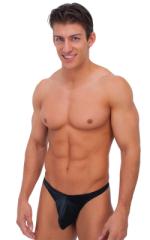Exotic Dancer Flopper Thong in Wet Look Black (PROLining) 1