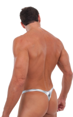 Exotic Dancer Flopper Thong in Liquid SILVER (PROLining) 3