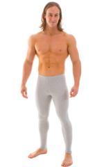 Mens Leggings Tights in Heather Grey Cotton-Spandex 10oz 1