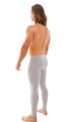 Mens Leggings Tights in Heather Grey Cotton-Spandex 10oz 3