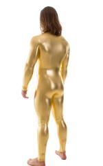 Full Bodysuit Zentai Lycra Spandex Suit for men in Liquid Gold 3