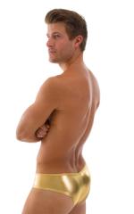 Hot Pants - Sexy Short Shorts in Metallic Liquid Gold 3