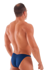 Fitted Pouch - Puckered Back - Posing Suit in Navy Blue 3