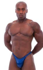 Bodybuilder Posing Suit - Narrow Back in Wet Look Navy 5