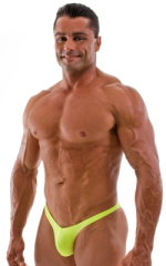 Posing Suit - Fitted Pouch - Puckered Back in Neon Chartreuse 1