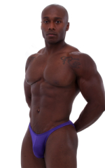 Posing Suit - Competition Bikini Cut in Shiny Purple 1