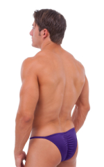Fitted Pouch - Puckered Half Back - Swimsuit in Shiny Purple 3