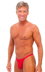 Rio Tanning Bikini Swimsuit in Wet Look Red 1