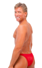 Rio Tanning Bikini Swimsuit in Wet Look Red 3