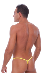 Y Back G String Swim Thong in Citron (Bright Yellow) 3