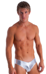 Hot Pants - Sexy Short Shorts in Metallic Liquid Silver 1