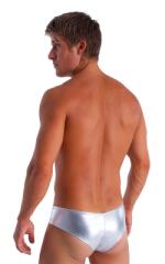 Hot Pants - Sexy Short Shorts in Metallic Liquid Silver 3