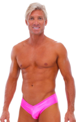 Hot Pants - Sexy Short Shorts in Wet Look Hot Pink 1