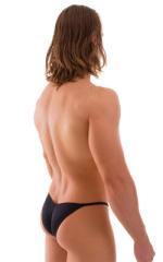 Micro Pouch - Puckered Back - Rio Bikini in Black 3