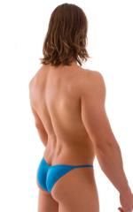 Micro Pouch - Puckered Back - Rio Bikini in Semi Sheer ThinSKINZ Sapphire 3