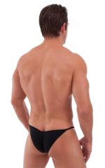 Micro Pouch - Puckered Back - Rio Bikini in Semi Sheer ThinSKINZ Black 3