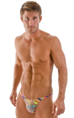 Sunseeker2 Tanning Swimsuit in ThinSKINZ Neon Dali 1