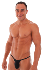 Sunseeker Micro Pouch Half Back Bikini in ThinSKINZ Black - Semi Sheer 1