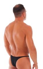 Sunseeker Micro Pouch Half Back Bikini in ThinSKINZ Black - Semi Sheer 3
