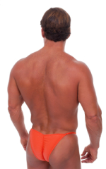 Fitted Pouch - Puckered Half Back - Swimsuit in Semi Sheer ThinSKINZ Apricot 3