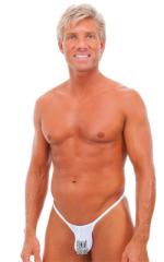 Sunseeker Micro Pouch Half Back Bikini in White PowerNet 1