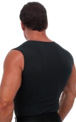 Sleeveless Lycra Muscle Tee in Semi Sheer ThinSKINZ Black 3