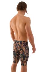 Lycra Bike Length Shorts in Camo 3