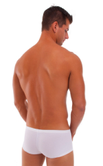Extreme Low Square Cut Swim Trunks in PowerNet White 3